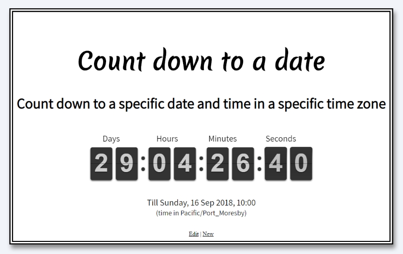 Count down to a date