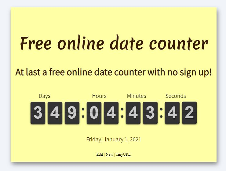 free online date counter