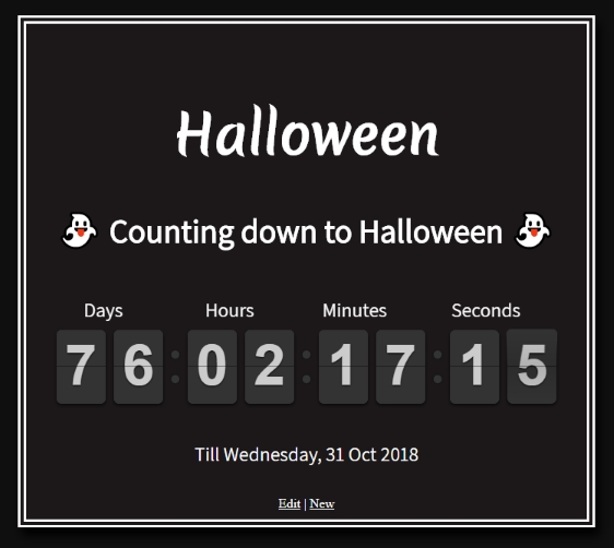 Count down to Halloween